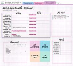 Just set up my digital bullet journal! Journal Template, Printable Calendar Template, Planner Template, Onenote Template, Notes Template, Templates, Bullet Journal Onenote, One Note Microsoft, Microsoft Office
