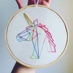 Embroidery unicorn / unicornio bordado