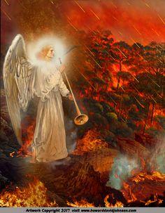 Heaven Painting, Heaven Art, Jesus Christ Images, Jesus Art, Bible Pictures, Angel Pictures, Art Essay, Apocalypse Art, Flame Art