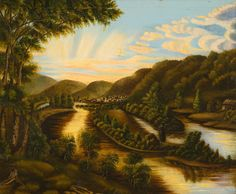 A View of Blennerhasset Island, West Virginia by American School | Art Posters