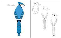 Charley Harper Sketchbook: How to Draw 28 Birds - Blue Jay