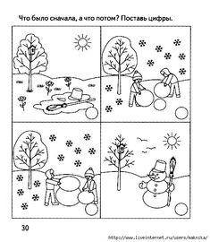 Развивающие занятия.Последовательность событий. Обсуждение на LiveInternet - Российский Сервис Онлайн-Дневников Sequencing Pictures, Story Sequencing, Fall Preschool, Preschool Activities, Toddler Crafts, Crafts For Kids, Free Printable Handwriting Worksheets, Free To Use Images, Winter Images