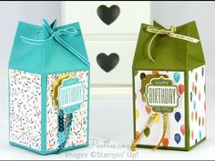 Stampin' Up! Demonstrator Pootles - Pinch Close Birthday Box Tutorial