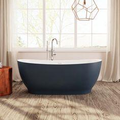 Perlato PLEVRN6531-BL Vittoria Eco-lapistone Soaker Tub | QualityBath.com Soaker Tub, Ranch Style, Clawfoot Bathtub, Shower Heads, Polished Chrome, Contemporary Design, Faucet, Sink, Tubs