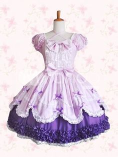 cute puff sleeves sweet lolita cosplay dress