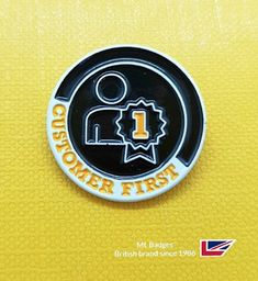 Delightful 'customer recognition badge for Halfords UK. Name Badges, Pin Badges, Make Your Own Badge, Custom Badges, Create, How To Make, Badges, Personalised Badges, Name Labels