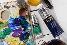 Water Soluble Oil Paint, Prussia, Art Blog, Drink Bottles, Artisan, Painting, Prussian Blue, Craftsman, Paintings