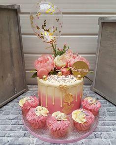 Elegant Birthday Cakes, Beautiful Birthday Cakes, Birthday Cakes For Women, Beautiful Cakes, Birthday Cake For Women Elegant, Wedding Cakes With Cupcakes, Elegant Wedding Cakes, Cupcake Cakes, Rustic Wedding
