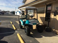"Customized ""Old School Harley Davidson"" golf cart"