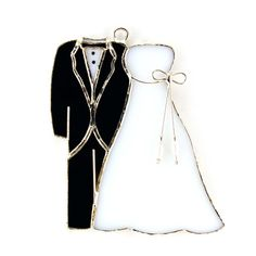 Wedding gown and tux