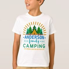 #Family Camping Trip Sun Ray Tent | Custom Name T-Shirt - #familyreunion #family #reunion