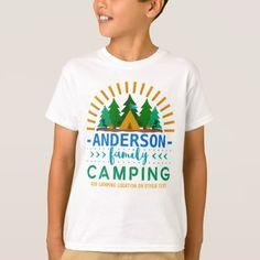 #Family Camping Trip Sun Ray Tent | Custom Name T-Shirt - #familyreunion #family #reunion