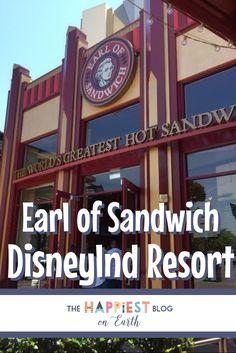 Earl of Sandwich Downtown Disney Best Disneyland Restaurants, Disneyland Vacation, Disneyland Tips, Disneyland California, Disney California Adventure, California Travel, Disney Vacations, Disney Trips, Disney Travel