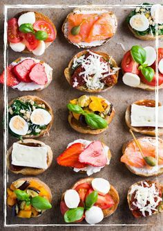 open faced sandwiches for horderves - Google Search | entertaing ...