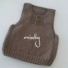 Baby Knitting Patterns, Knitting Designs, Baby Boys, Crochet Baby, Knit Crochet, Knit Vest Pattern, Knit In The Round, Crochet Blouse, Pullover
