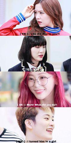 BTS/NCT/Dreamcatcher/Red Velvet — characters mark & yoongi & yura [ irene ] & akko [ jiu ] : girl  Harry Potter [ AU ]