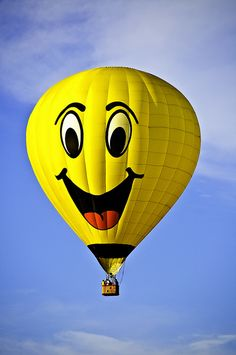 Smiley hot air balloon, Readington, New Jersey Hot Air Balloon Festival, 2010 - photo by Francisco Diez, via Flickr
