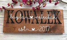Last Name Sign Established Sign Name Sign Wedding Gift Homemade Wedding Presents, Established Sign, Last Name Signs, Anniversary Gifts For Couples, Personalized Signs, Bridal Shower Gifts, Vinyl Lettering, Wedding Signs, Perfect Wedding