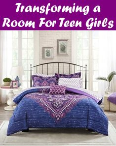 Mainstays Teens' Grace Purple Floral Reversible Medallion Bedding FULL Comforter Sets for Girls Piece in a Bag) College Bedding Sets, Beach Bedding Sets, Purple Bedding Sets, Bedding Sets Online, Luxury Bedding Sets, Purple Comforter, Black Bedding, Modern Bedding, Queen Size Comforter Sets