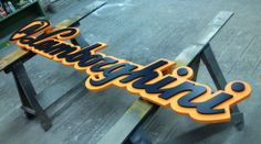 Dimensional Logo with custom paint. Artcraft Sign Co, Raleigh, NC & Winchester, VA Retail Signage, Wayfinding Signage, Signage Design, Channel Letter Signs, Truck Lettering, Decoration Restaurant, Architectural Signage, Vintage Neon Signs, 3d Cnc