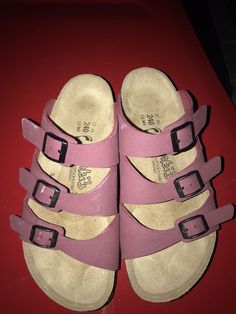 720753d3f858 BIRKENSTOCK birkis SIZE 37 3 strap slides EUC  fashion  clothing  shoes   accessories