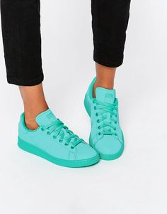 adidas+Originals+Stan+Super+Colour+Shock+Mint+Trainers
