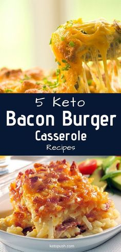 Level Up Your Mealtimes With These 5 Keto Bacon Burger Casserole Recipes Casseroles are fairly inexpensive and easy to make. Fortunately, there are some like the keto bacon burger casserole recipes below that are also both tasty and low in carbs. Ketogenic Recipes, Low Carb Recipes, Diet Recipes, Healthy Recipes, Ketogenic Diet, Yummy Recipes, Salad Recipes, Atkins Recipes, Protein Recipes