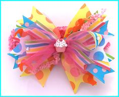 Boutique Hair Bows | Ultimate Boutique Birthday Funky Hairbow-