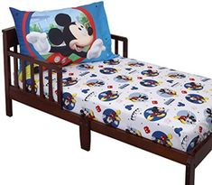 Disney Mickey Mouse Toddler Sheet Set for sale online Toddler Bed Mattress, Toddler Sleep, Toddler Boys, Baby Crib Bedding Sets, Crib Sets, Nursery Bedding, Warm Paint Colors, Woman Bedroom, Bedroom Boys