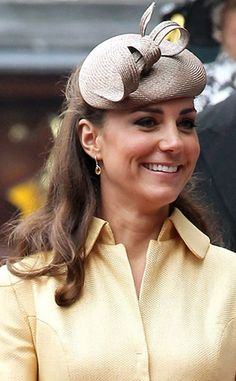 Déjà Vu from Duchess Catherine's Hats & Fascinators  We've spotted this sleek taupe number before!