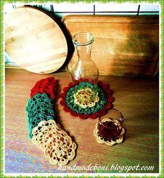 HandmadeBoni: Kolorowy zestaw podkładek. Zrób razem ze mną :-)