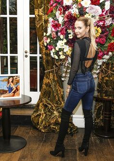 The young beauty displayed her chic sense of style in a black lace slip dress and sleek biker jacket, as she viewed the new Pili and Kiki swimwear collection with a host of MIC stars. Celeb Style, My Style, Abbey Clancy, Lace Slip, Celebs, Celebrities, London Fashion, Mail Online, Daily Mail