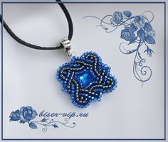 "Free picture graphic for Pendant ""Light of a Distant Star"" This is bead embroidery."