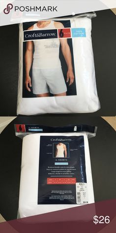 "Men's A-Shirts 6 pack Brand new A shirts men's 6 pack. Aka ""wife beater"" Original price $34 croft & barrow Underwear & Socks Undershirts"