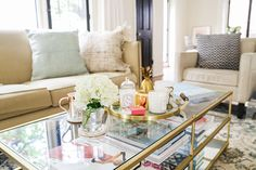 How to Style a Coffee Table by LaurenConrad.com