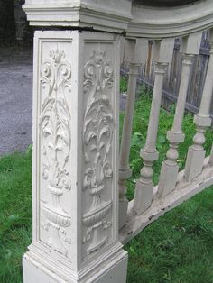 Great website for antique architectural salvage.  I WANT this newel post & curved railing