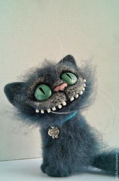 Needle felted Cheshire Cat. ADORABLE.
