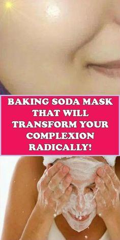 Beauty Care, Beauty Skin, Beauty Hacks, Diy Beauty, Face Beauty, Beauty Ideas, Baking Soda Mask, Face Skin Care, Facial Care