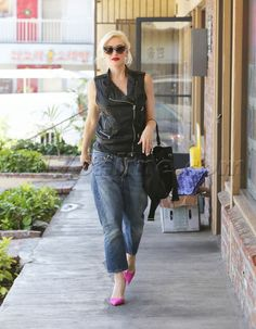 sunglasses Gwen Stefani singer gavin rossdale no doubt acupuncture blonde pink heels heels leather