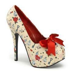 Pinup Couture Teeze-12-3 - sexy talon hauts chaussures femmes plateau escarpins 36-42: Amazon.fr