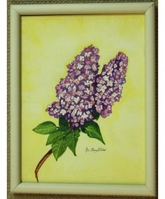 """""""Smell the Lilacs"""" original watercolor by Sister Mary Oliver Reising"""