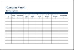 Inventory Count Sheet DOWNLOAD At Http://www.templateinn.com/25 Inventory  Templates For Everyone/