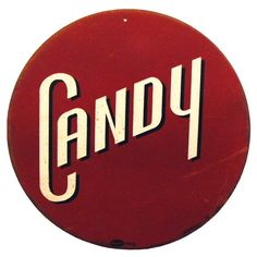 Round Candy Tin Sign