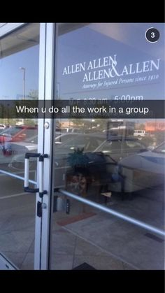 """ALLEN & ALLEN & ALLEN &a ALLEN: Working  on a group project is THE WORST.*  *If your name is Allen.   If your name is Chris, it's like, """"Hell yeah! What's on Netflix? Let's party!"""""""