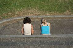curb sitting scene