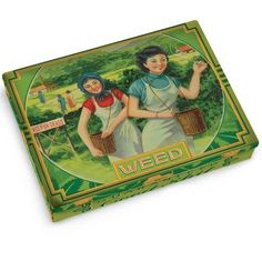 Fancy - Weed Tin Pocket Box - Replica of a 1920's Cigarette Case