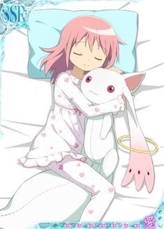 New Madoka Magica bedtime theme official art.