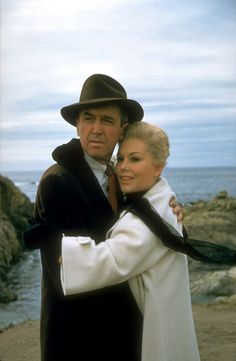 "James Stewart & Kim Novak in ""Vertigo"""