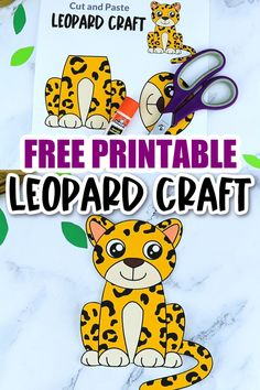 Do your kids love tigers and cheetahs and lions? Then they are sure to love this leopard craft too! It is no Dr Seuss animal, but your preschooler or kindergartner student will have a blast piecing together this printable leopard template. Click and download yours today! Safari Animal Crafts, Jungle Crafts, Giraffe Crafts, Zoo Crafts, Tiger Crafts, Animal Crafts For Kids, Printable Crafts, Printables, Snake Crafts