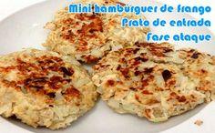 Aprenda como preparar uma receita de mini hambúrguer de frango para o seu prato de entrada da fase ataque dukan.